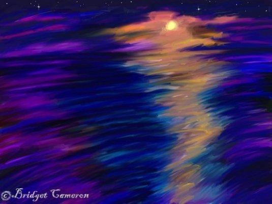 night set sea by Bridget Cameron